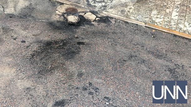 ВКиеве под зданием Ставицкого зажгли шины