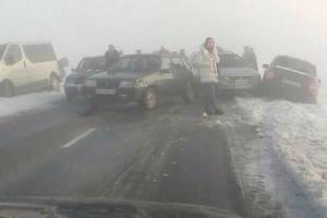 Масштабная авария во Львове: из-за тумана столкнулись сразу семь авто