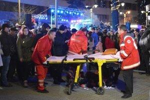 В Ивано-Франковске во время открытия елки серьезно пострадала девушка