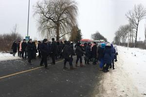 Медики заблокировали трассу Львов-Самбор