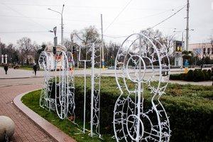 В Запорожье установили новогоднюю фотозону