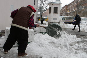 Kiev so far removed from the consequences of snowfall
