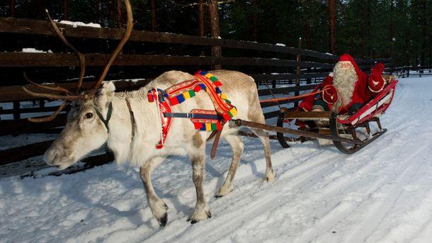 Санта-Клаус пролетел над Украинским государством врамках рождественского турне