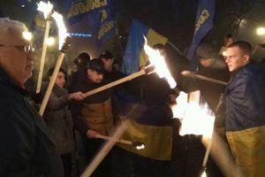 Марши в честь Бандеры прошли на Донбассе: опубликованы фото, видео