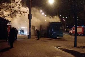 В Киеве загорелся троллейбус с пассажирами