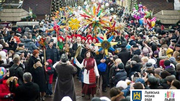 Рождество во Львове. Фото: пресс-служба мэрии
