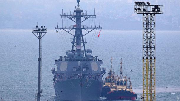 ВВМС США сделали объявление  повизиту американского эсминца вОдессу