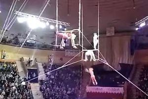 Видеошок: акробатка сорвалась с высоты при выполнении трюка в цирке