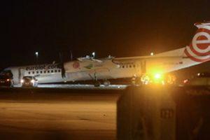 В аэропорту Варшавы пилоты посадили самолет без передних шасси