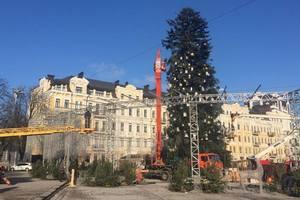В Киеве разобрали главную новогоднюю елку