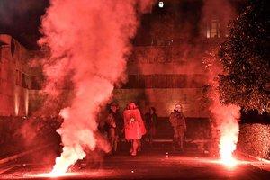 Полиция Афин применила слезоточивый газ против митингующих