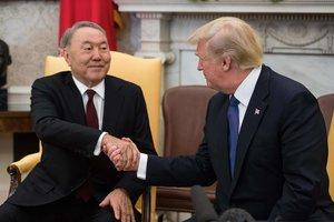 В Белом доме проходят переговоры Назарбаева и Трампа