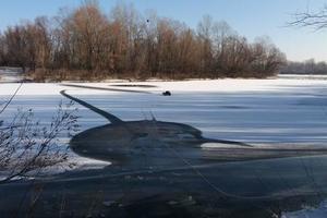 Морозы в Киеве: рыбаки проваливаются в воду, а лебеди замерзают на льду