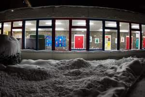В Германии из-за снежной бури закрыли школы