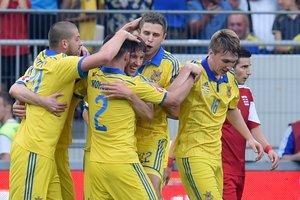 Сборная Украины осталась на 35-м месте в рейтинге ФИФА