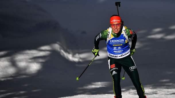 Дальмайер выиграла гонку преследования, Семеренко отыграла 5 мест— Биатлон