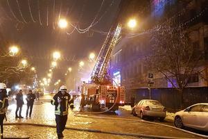 Масштабный пожар в центре Киева локализирован