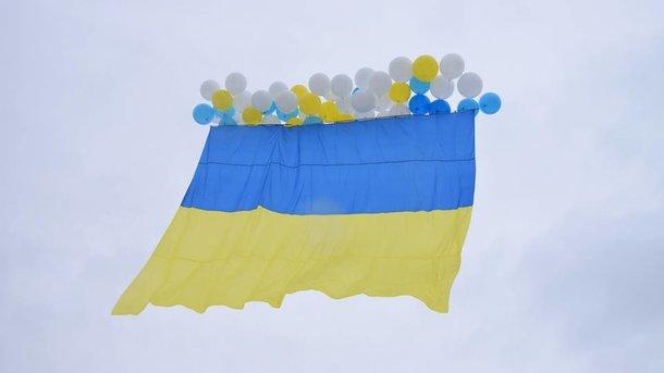 ВЛуганск отправили флаг Украины
