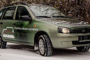 Россияне превратили старую Lada Kalina в беспилотный электрокар
