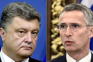 Порошенко обсудил ситуацию на Донбассе с генсеком НАТО Столтенбергом