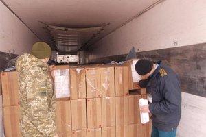In the Rivne region blocked international traffic contraband cigarettes