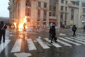 Взрыв в центре Баку: появились фото и видео