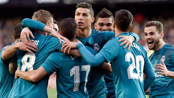 Дубль Роналду принес «Реалу» разгромную победу вматче с«Валенсией»