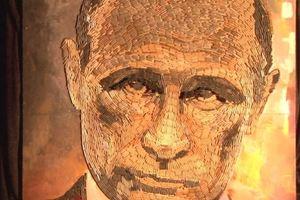 """В Украинском институте Америки показали """"лицо войны"""" - портрет Путина из гильз"""