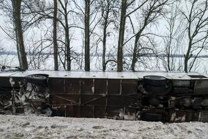 В Харьковской области разбился пассажирский автобус: появились фото