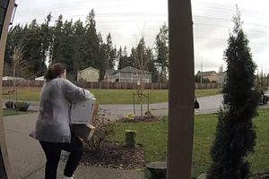 Видеохит: женщину моментально настигла карма за кражу чужих посылок