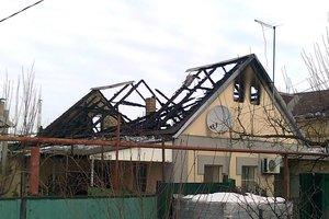 В Запорожье сгорел элитный частный дом