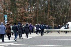 In the Volyn region blocked the international highway Kyiv-Yagodyn