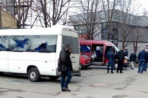 In Kiev, unidentified persons fired at the bus