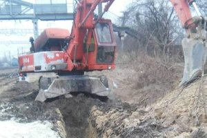 In Lviv Builder to death covered with earth