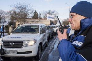 Боевики обстреляли наблюдателей ОБСЕ на Донбассе