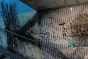 В Киеве распоясались вандалы: массово разрисовывают дома на Подоле