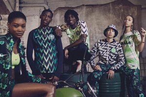 Players or hip-hop group the national team of Nigeria introduced the original form for the 2018 world Cup