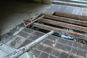 In Kiev massively steal grates storm drain inlets