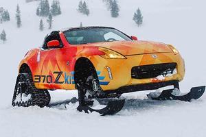 Как выглядит сумасшедший снегоход от Nissan