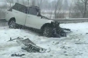 A deadly accident on the highway Kyiv-Chop: Land Rover turned into a pile of metal