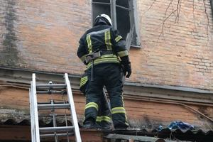 In Kiev there was a fire in a residential home, rescued the man