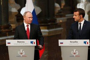 Путин и Макрон обсудили Украину