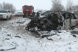 Bloody accident on the highway Kyiv-Chop: all the details