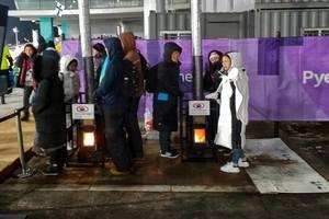 Как согревают замерзших болельщиков на Олимпиаде в Южной Корее