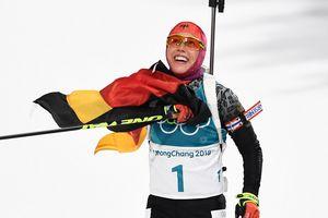 """Вторая биатлонная гонка: Украина снова без медалей, а Лаура Дальмайер делает """"золотой"""" дубль"""