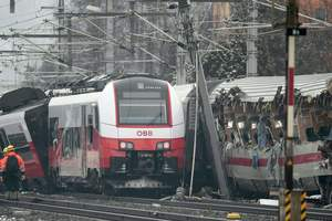 In Austria we have faced two trains: one person was killed