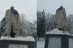 The vandals who beheaded the monument to Shevchenko, faces 5 years in prison