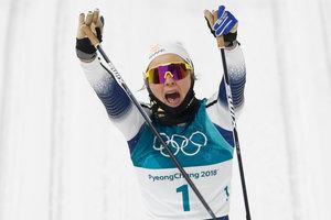 Спортсменка из Швеции завоевала золотую медаль Олимпиады-2018 в лыжных гонках