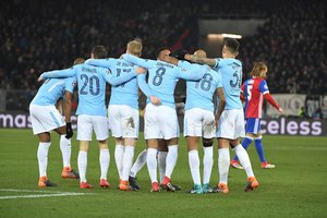Manchester city destroyed Basel in Switzerland: the best photos of the match