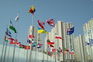 В День Святого Валентина на Olympic Plaza в Пхенчхане пусто: шквальный ветер